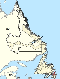 Location Map – Avalon Peninsula North