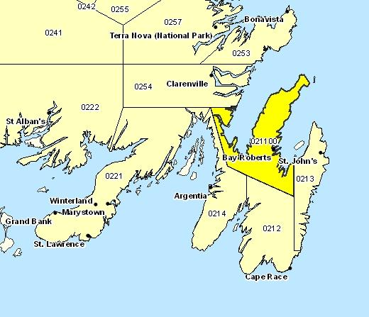 Forecast Sub-regions of Avalon Peninsula North