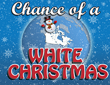 Chance of white christmas