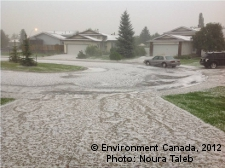 Image of Hailstorm in Calgary.
