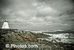 © Photos.com. View of rough waters off the Atlantic coast.