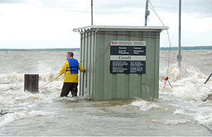 © Environment Canada.  Flooding along Lake Champlain near Philipsburg, Quebec spring of 2011.