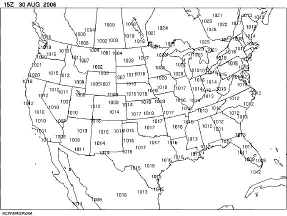 ARCHIVED Environment And Climate Change Canada Weather And - Isobar map us